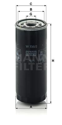 Öljynsuodatin MANN-FILTER W 735/2