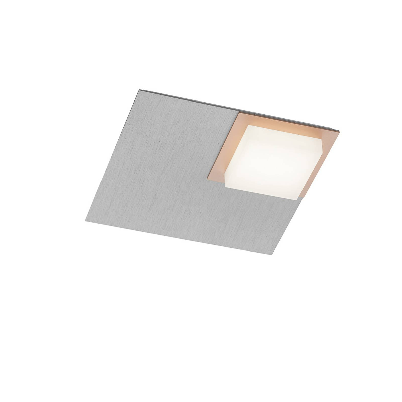 BANKAMP Quadro LED-taklampe 8 W sølv