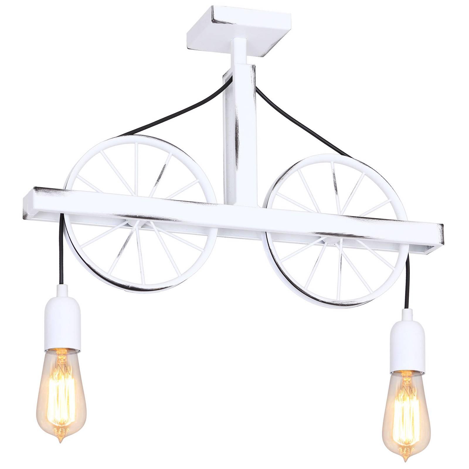 Seinävalaisin 844, pyörät, kaksilamppuinen, valk.