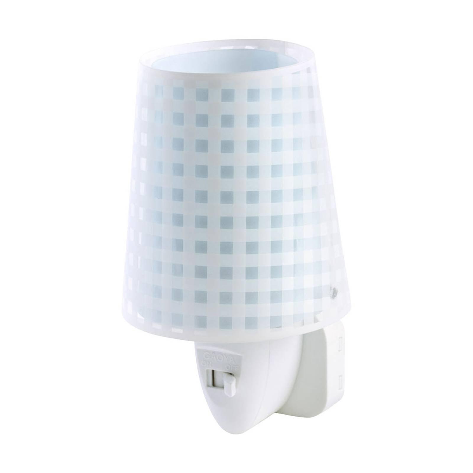 LED-nattlys Vichy i blå