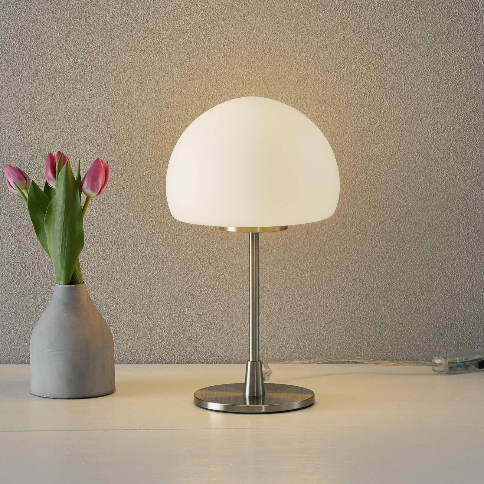 Bordlampe Gaia Big med berøringsfunksjon, hvit