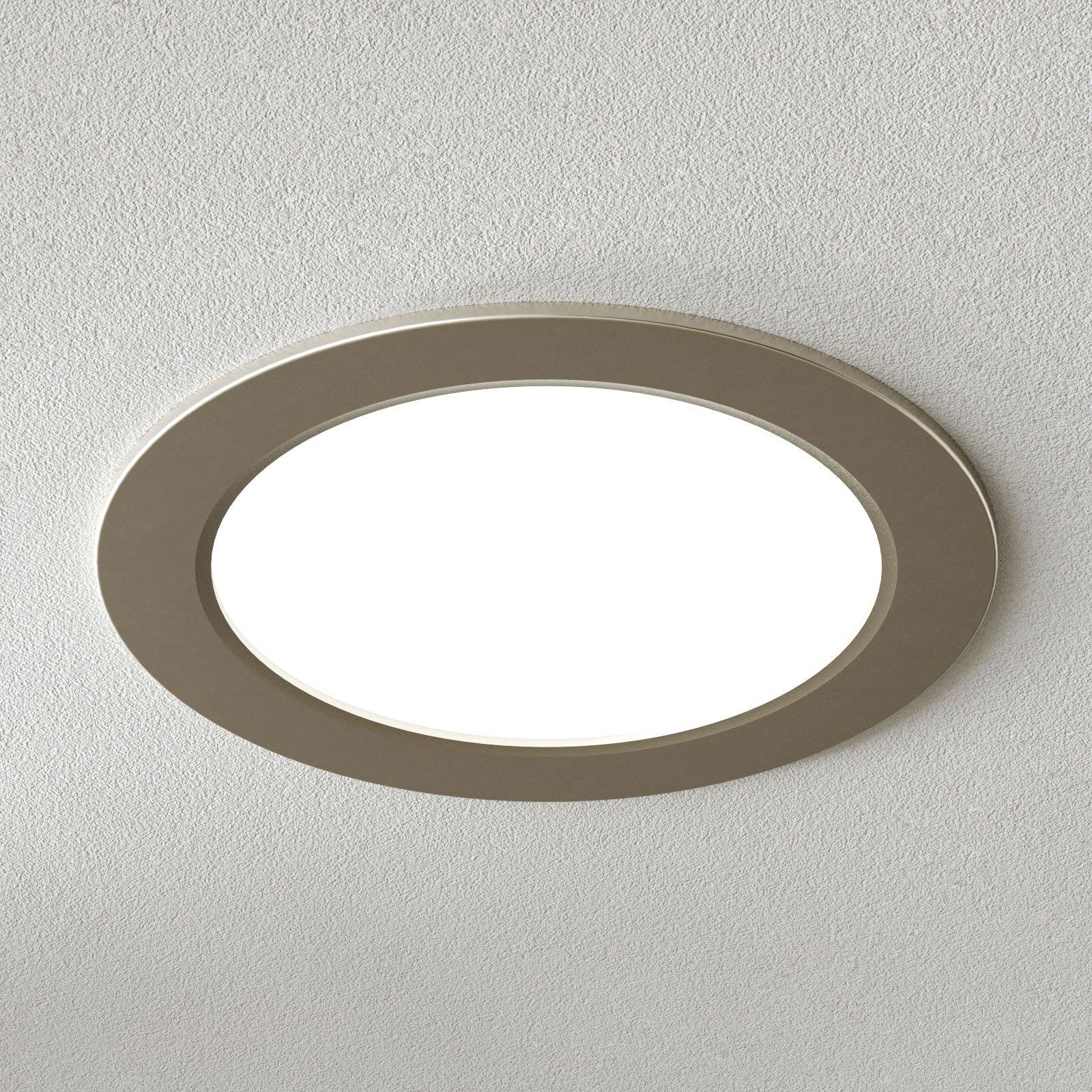 Moderne LED innfelt taklampe Pindos, nikkel