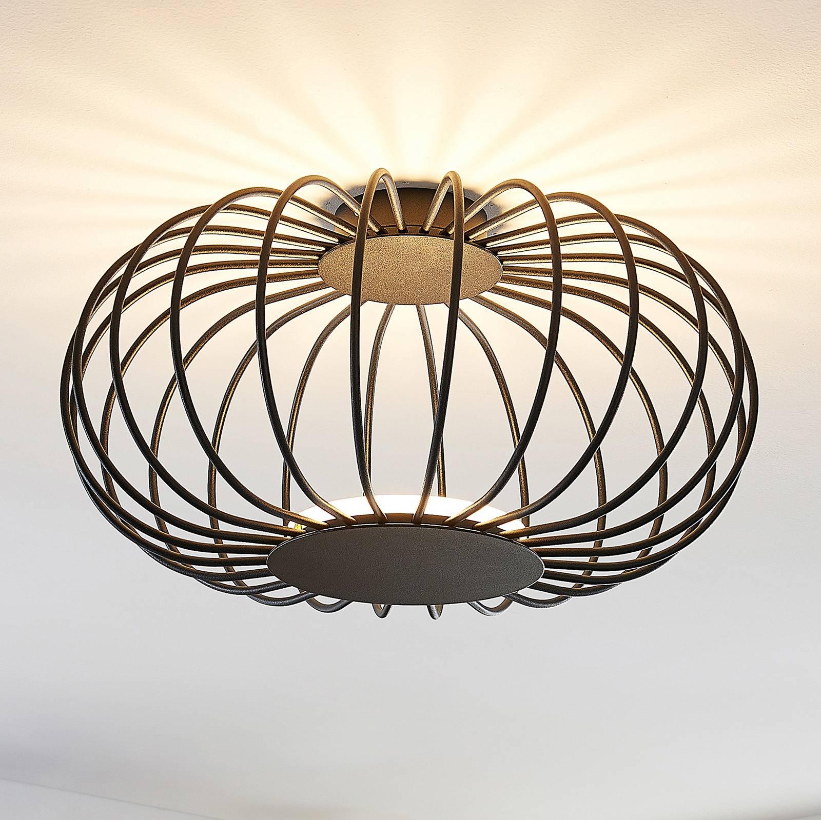 Lucande Lusine LED-kattovalaisin, musta