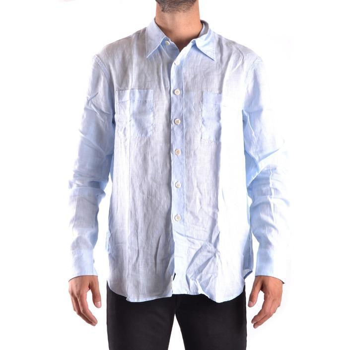 Armani Collezioni Men's Shirt Light Blue 160852 - light blue L