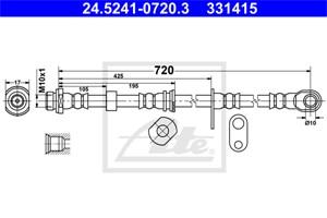 Jarruletku, Etuakseli, oikea, MITSUBISHI L200 / TRITON, L200 / TRITON Flak/chassi, PAJERO SPORT II, MN102534