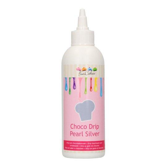 FunCakes Choco Drip Silver - 180 g