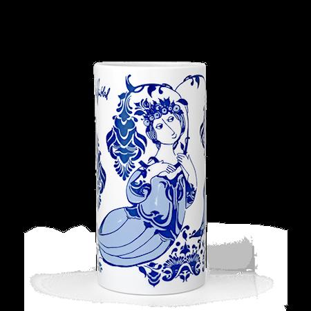 Vase, Lily, blå, H 18 cm, sylinder