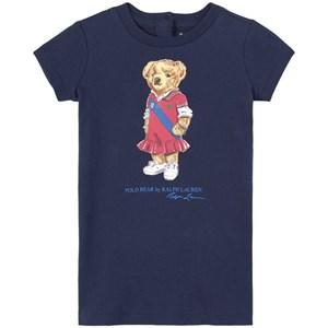 Ralph Lauren Preppy Bear Klänning Marinblå 9 mån