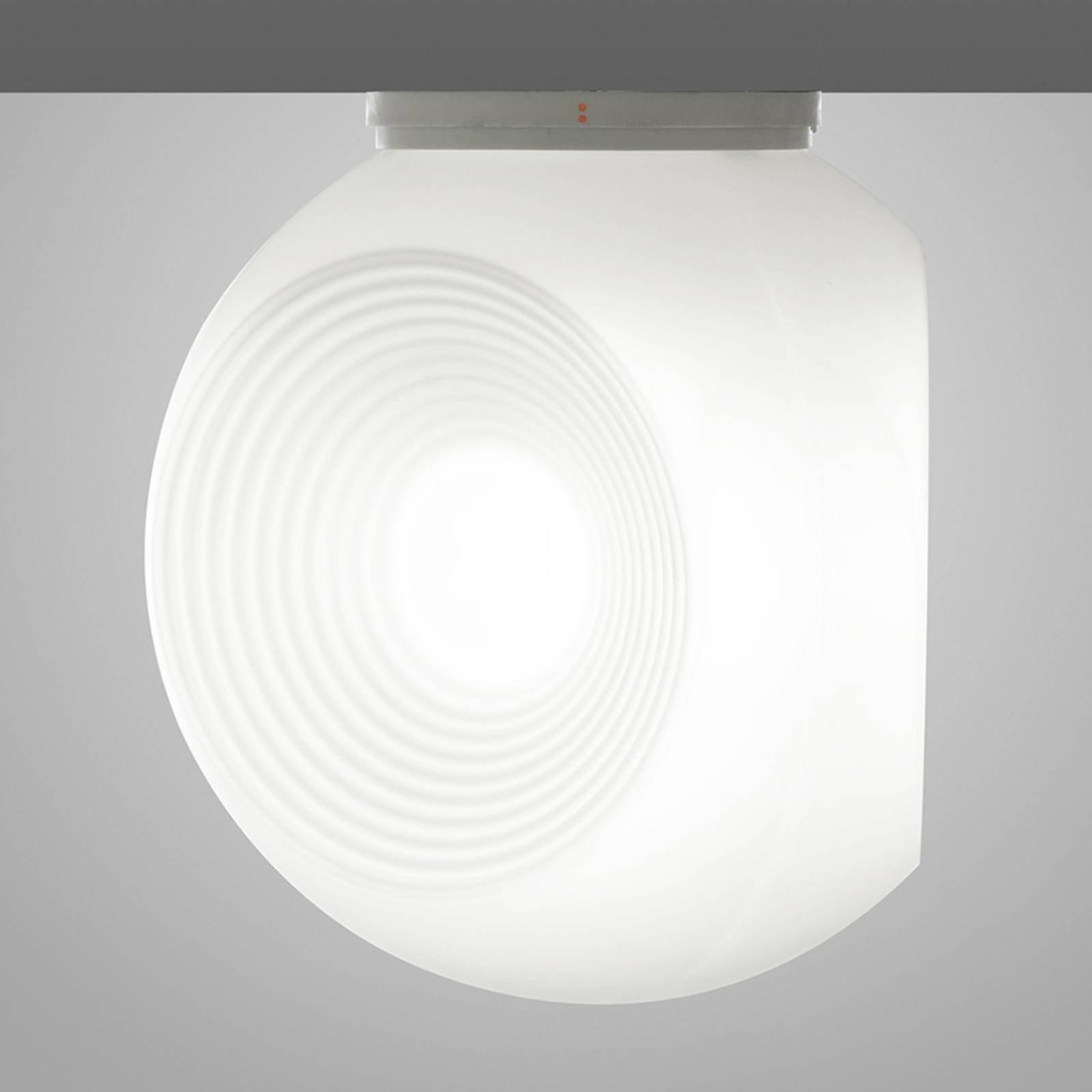 Fabbian Eyes - taklampe av glass, hvit