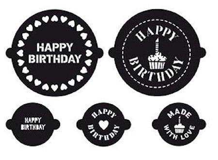 CAKE A CUPCAKE Stensiler Birthday