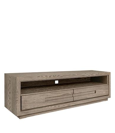HUNTER media bench 120cm antique grey oak