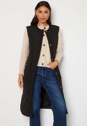 ONLY Nayra S/L Long Quilt Vest Black S