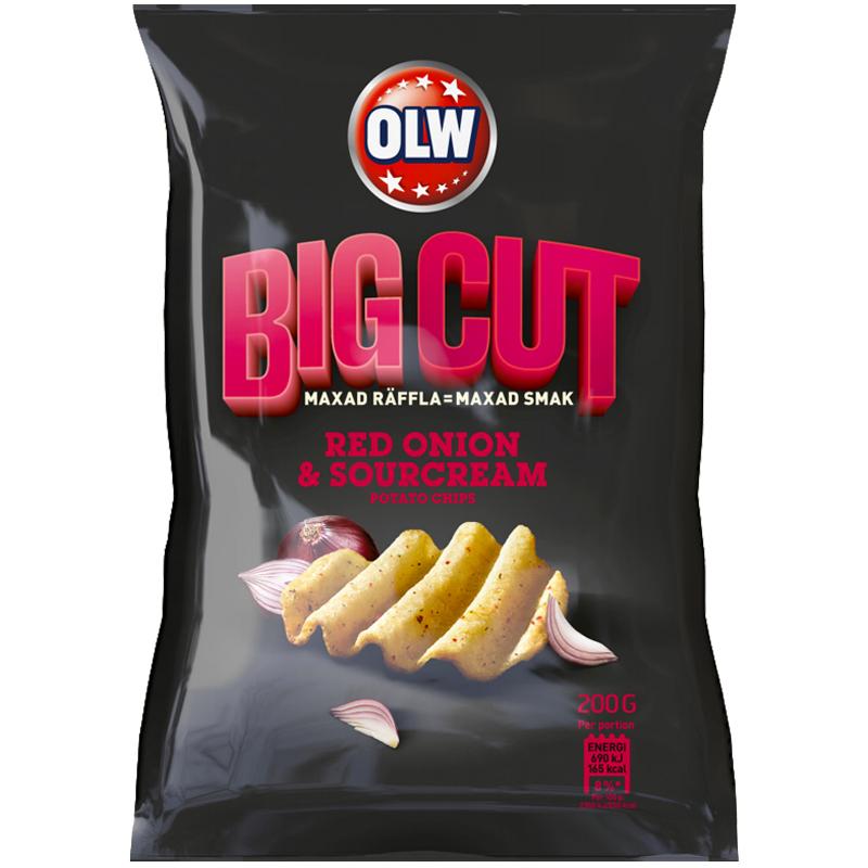"Chips ""Big Cut Red Onion"" 200g - 77% rabatt"