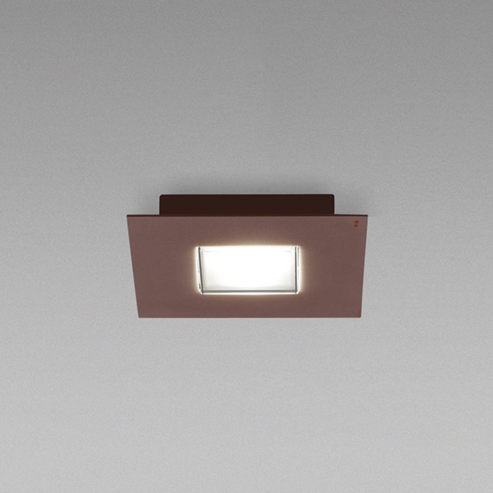 Fabbian Quarter - LED-taklampe 2 lyskilder, brun