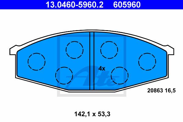 Jarrupalasarja, levyjarru ATE 13.0460-5960.2