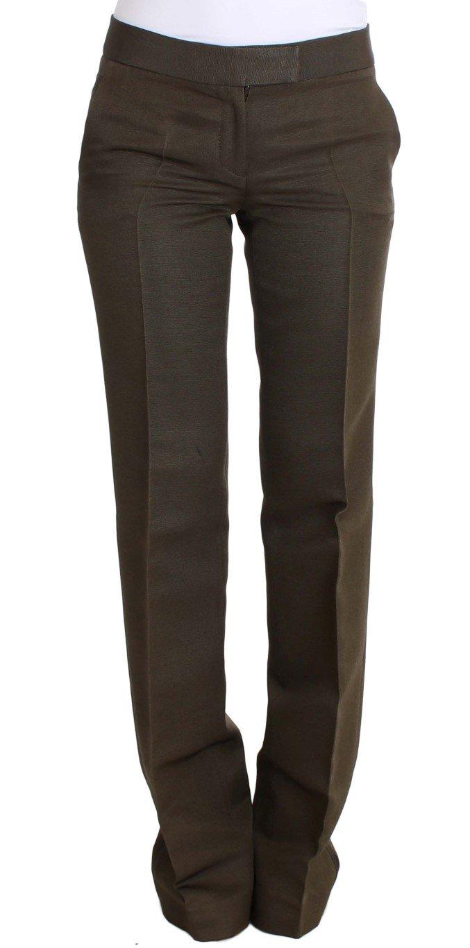 Ermanno Scervino Women's Formal Trouser Green SIG30392 - IT40|S