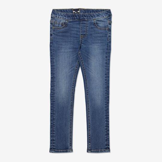 Dra-på-bukse blå denim