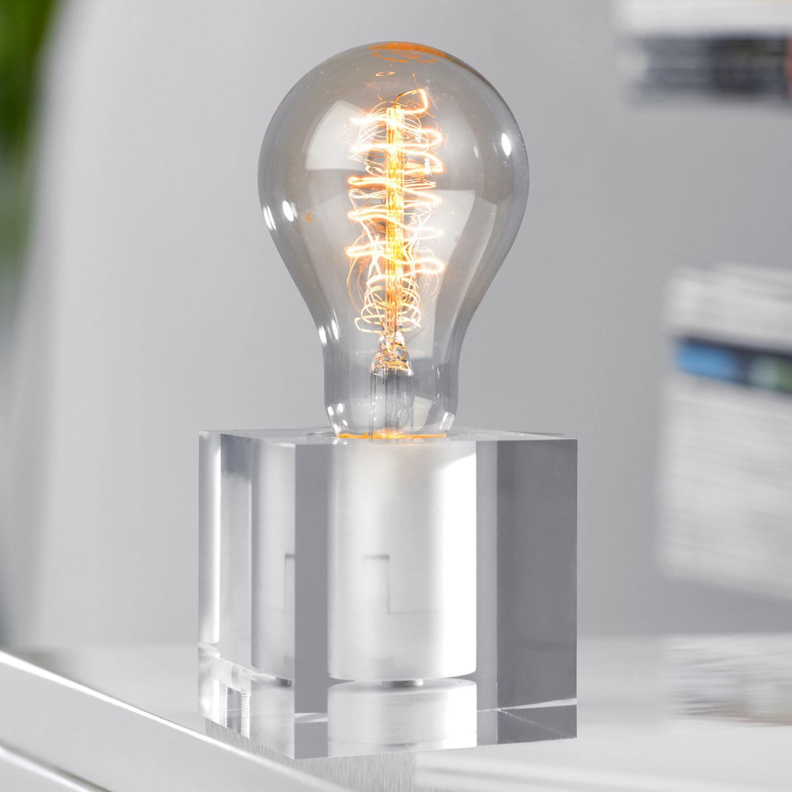 Pöytälamppu Cubic, akryyli