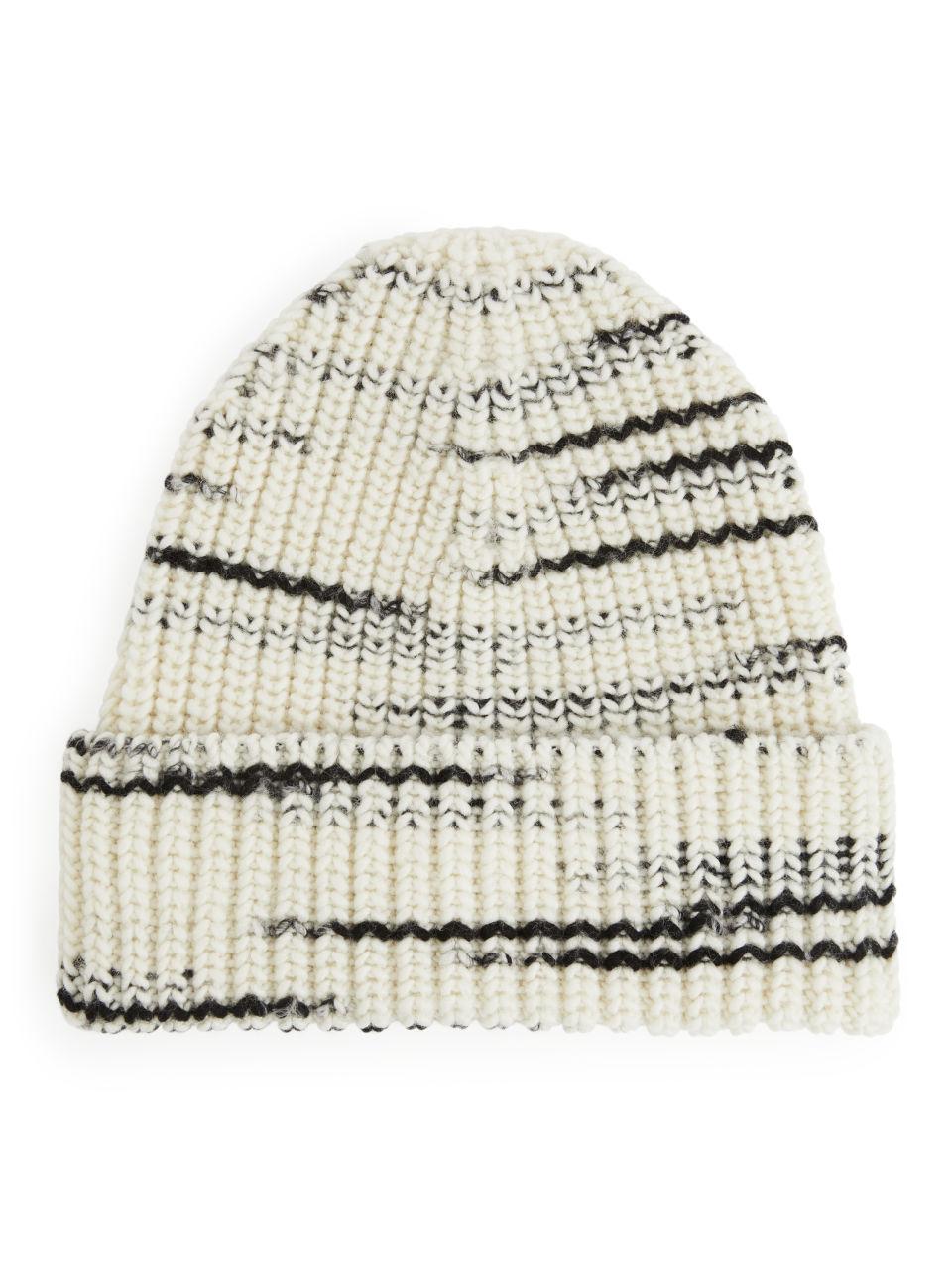 Chunky Wool Beanie - White