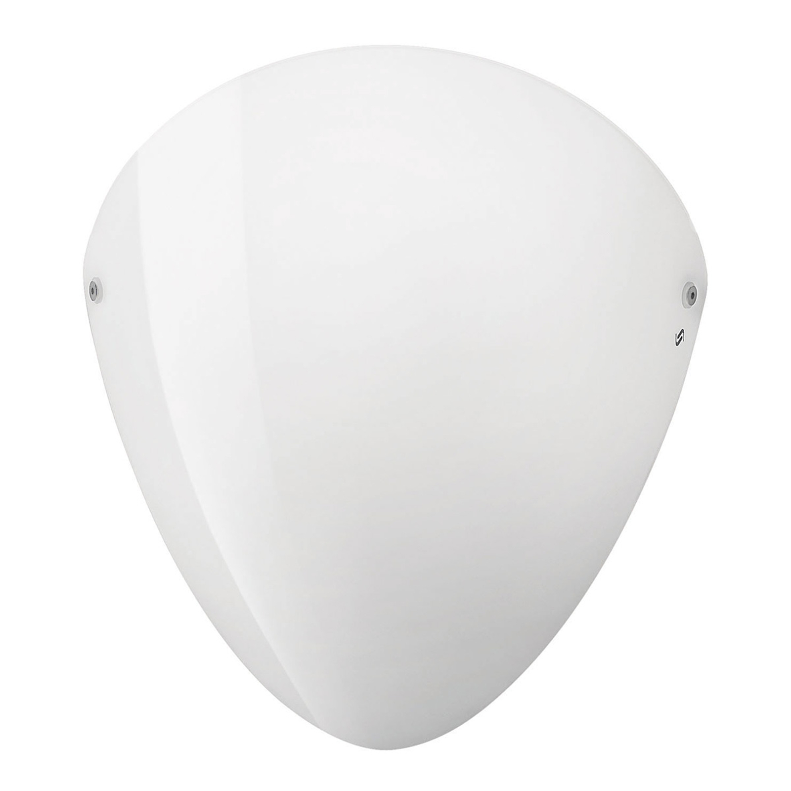 Ovalina - seinälamppu E27, kiiltävä valkoinen