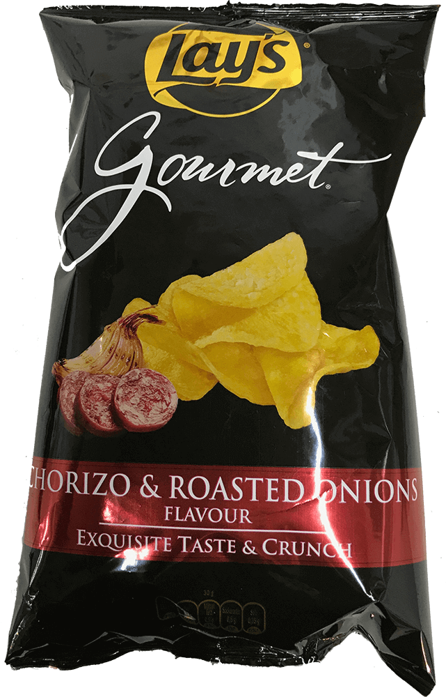 Lays Gourmet Chorizo & Roasted Onion Flavor 150g