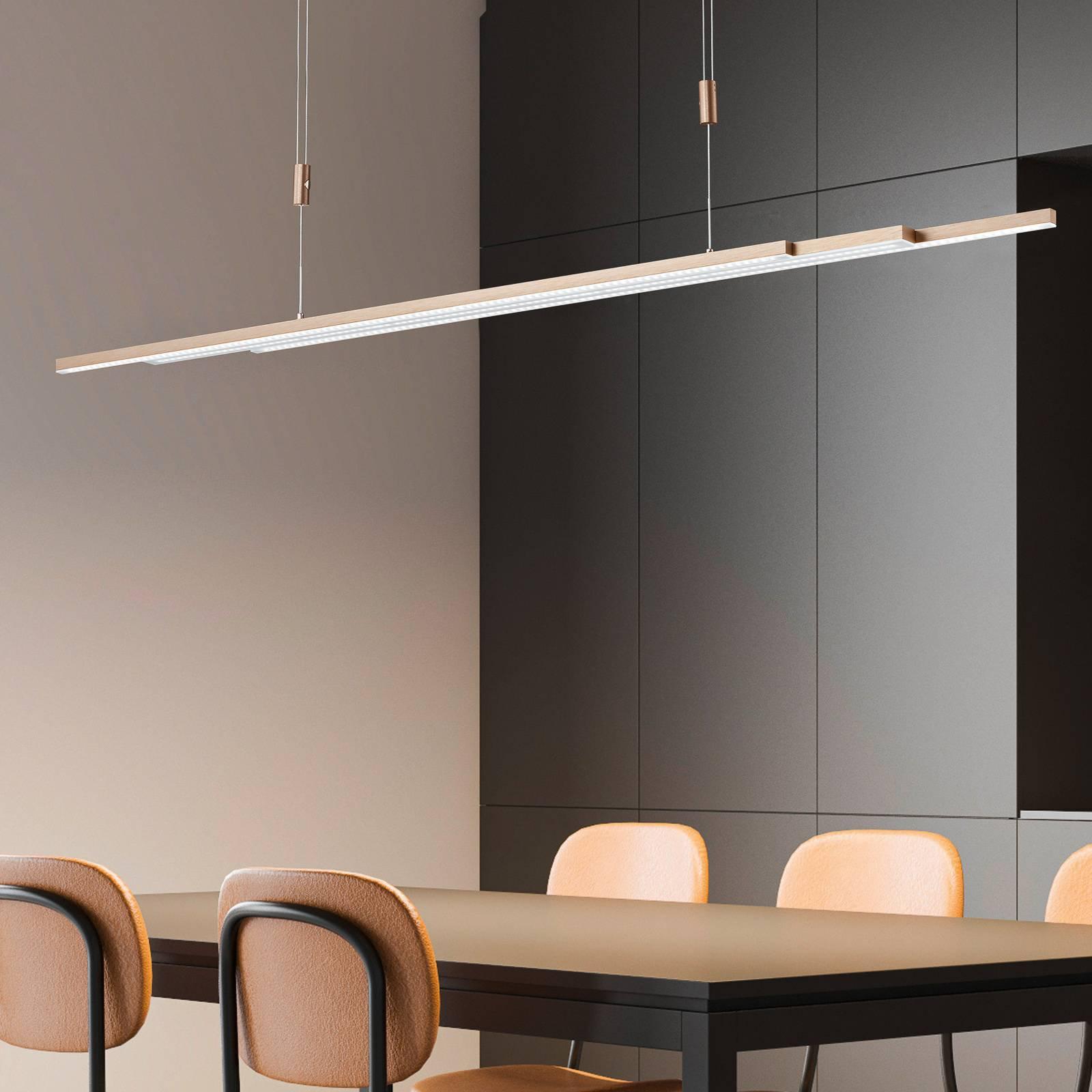 BANKAMP L-lightLINE LED-hengelampe, roségull