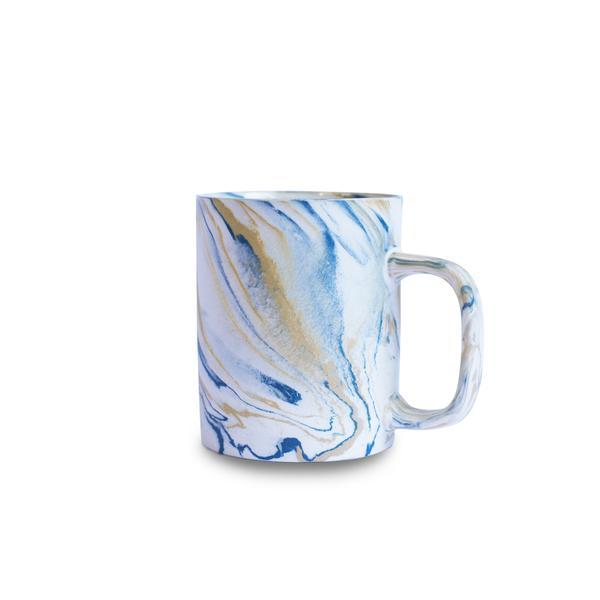 Marble Mustard Yellow & Blue Mug