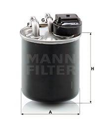 Polttoainesuodatin MANN-FILTER WK 820/20