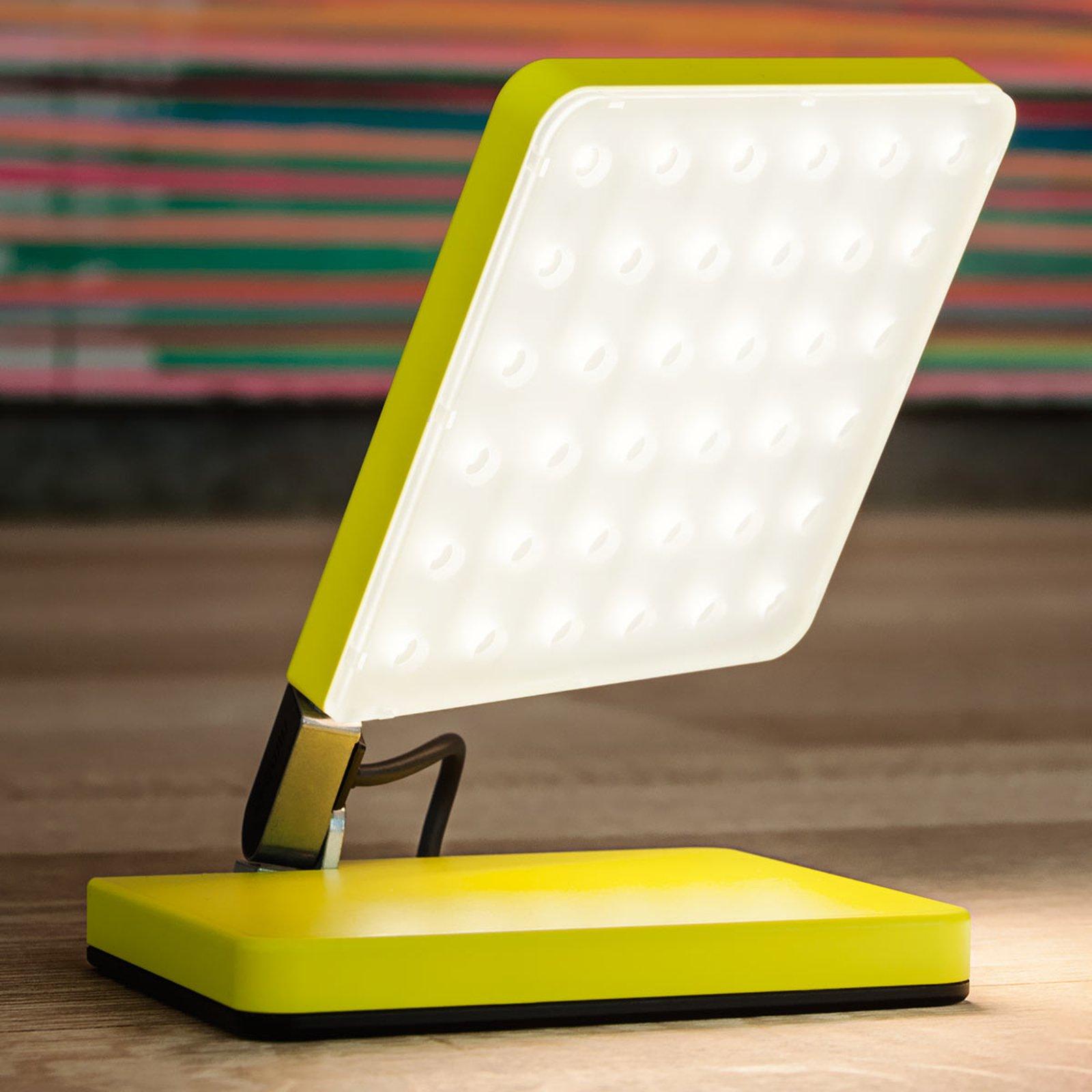 Nimbus Roxxane Fly LED-bordlampe, neongul