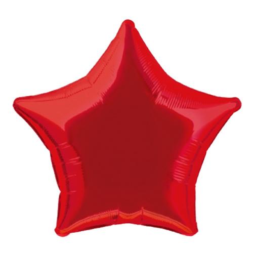 Folieballong Stjärna Röd