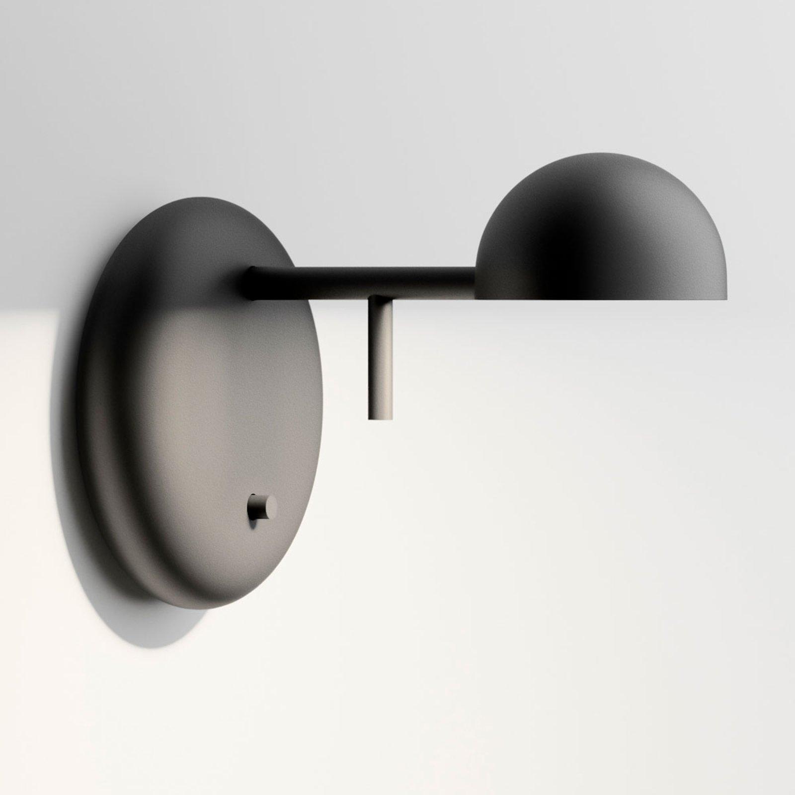 Vibia Pin 1675 LED-vegglampe, 11 cm, svart