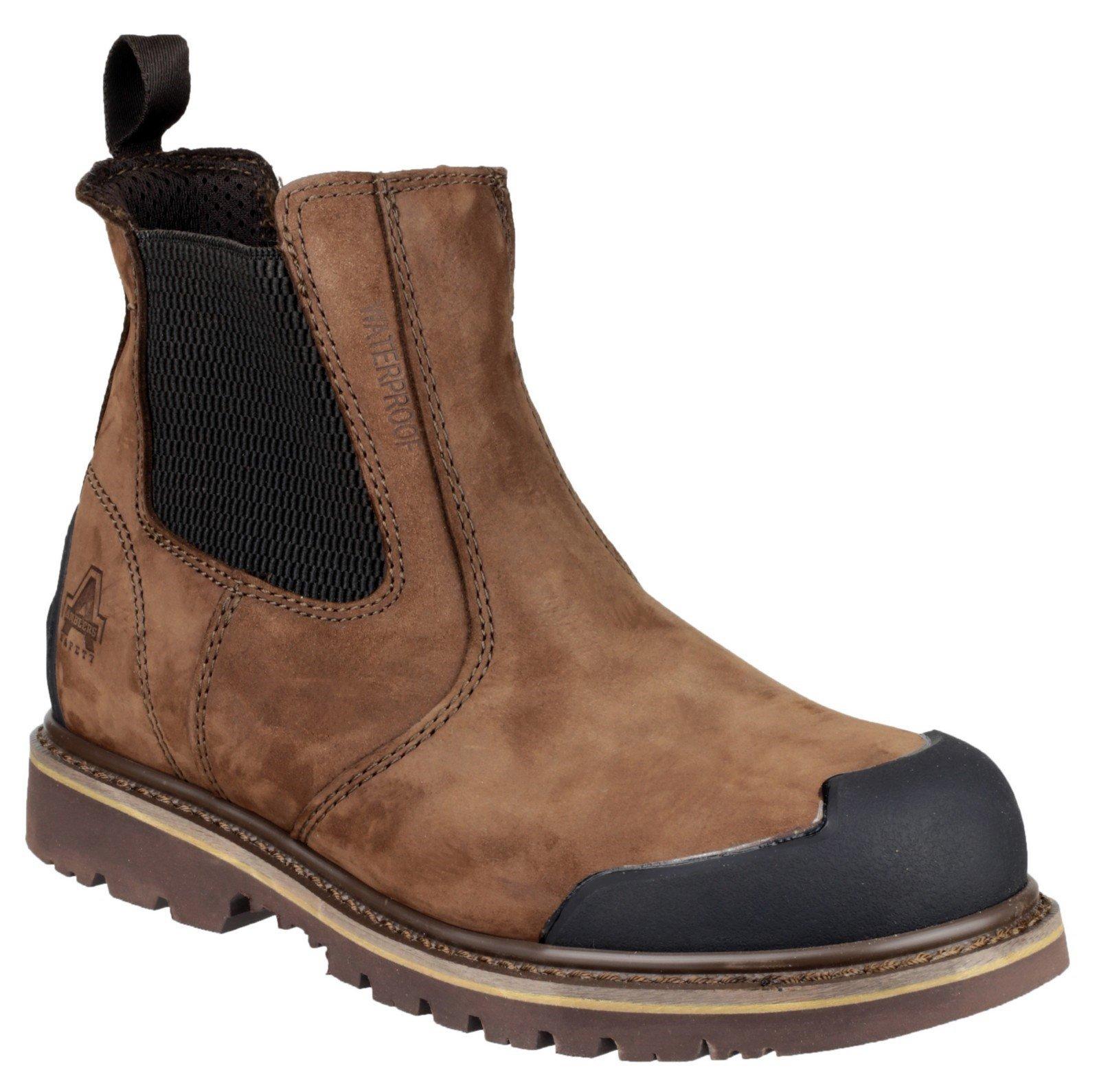 Amblers Unisex Safety Goodyear Waterproof Pull On Chelsea Boot Brown 20433 - Brown 6