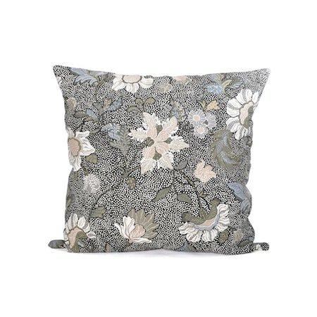 Putevar Flower Linen 50x50 - Grå
