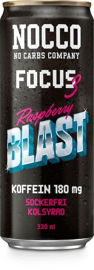NOCCO Focus 3 Raspberry Blast 33cl