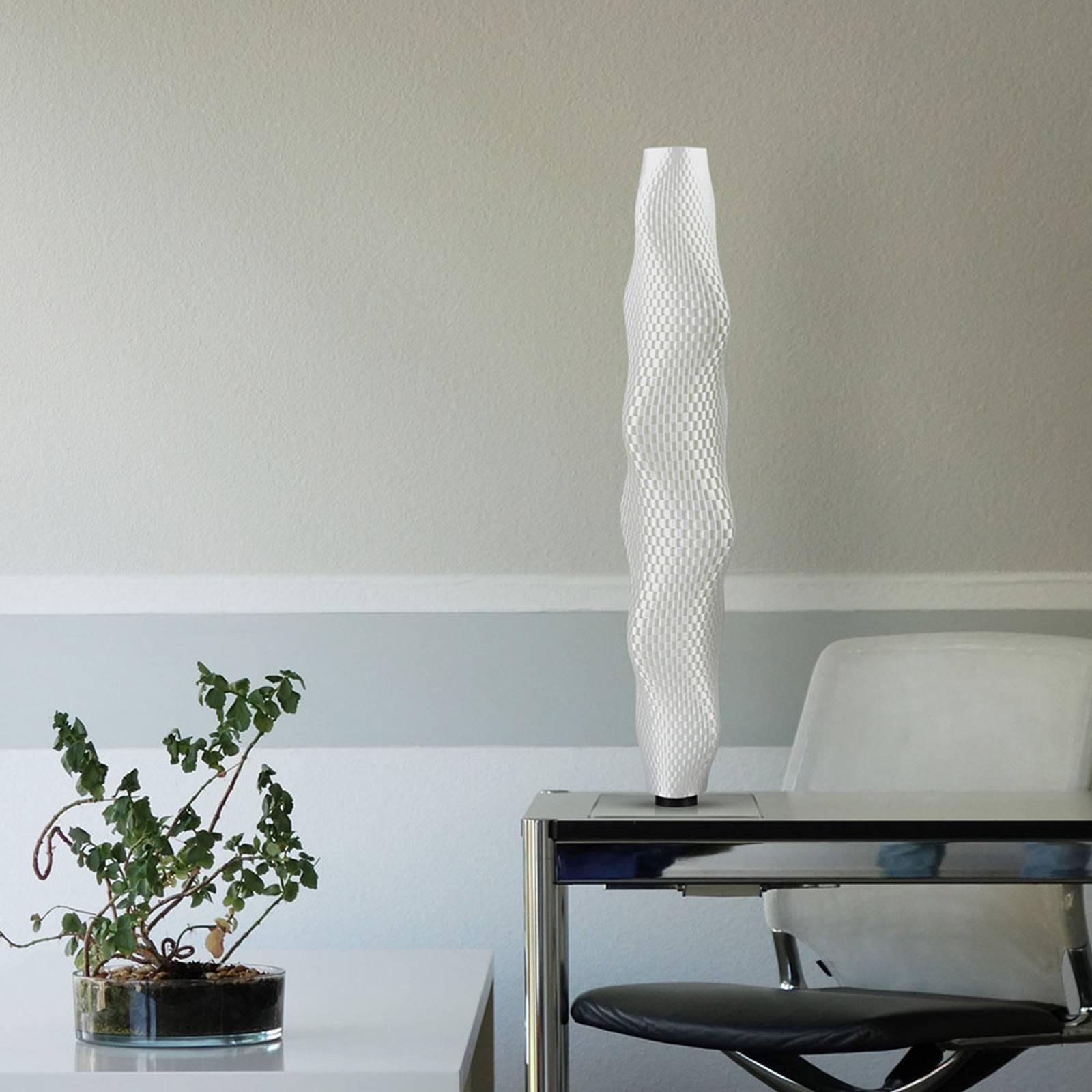 LED-lattiavalo Flechtwerk Kaktus 75 cm, valkoinen