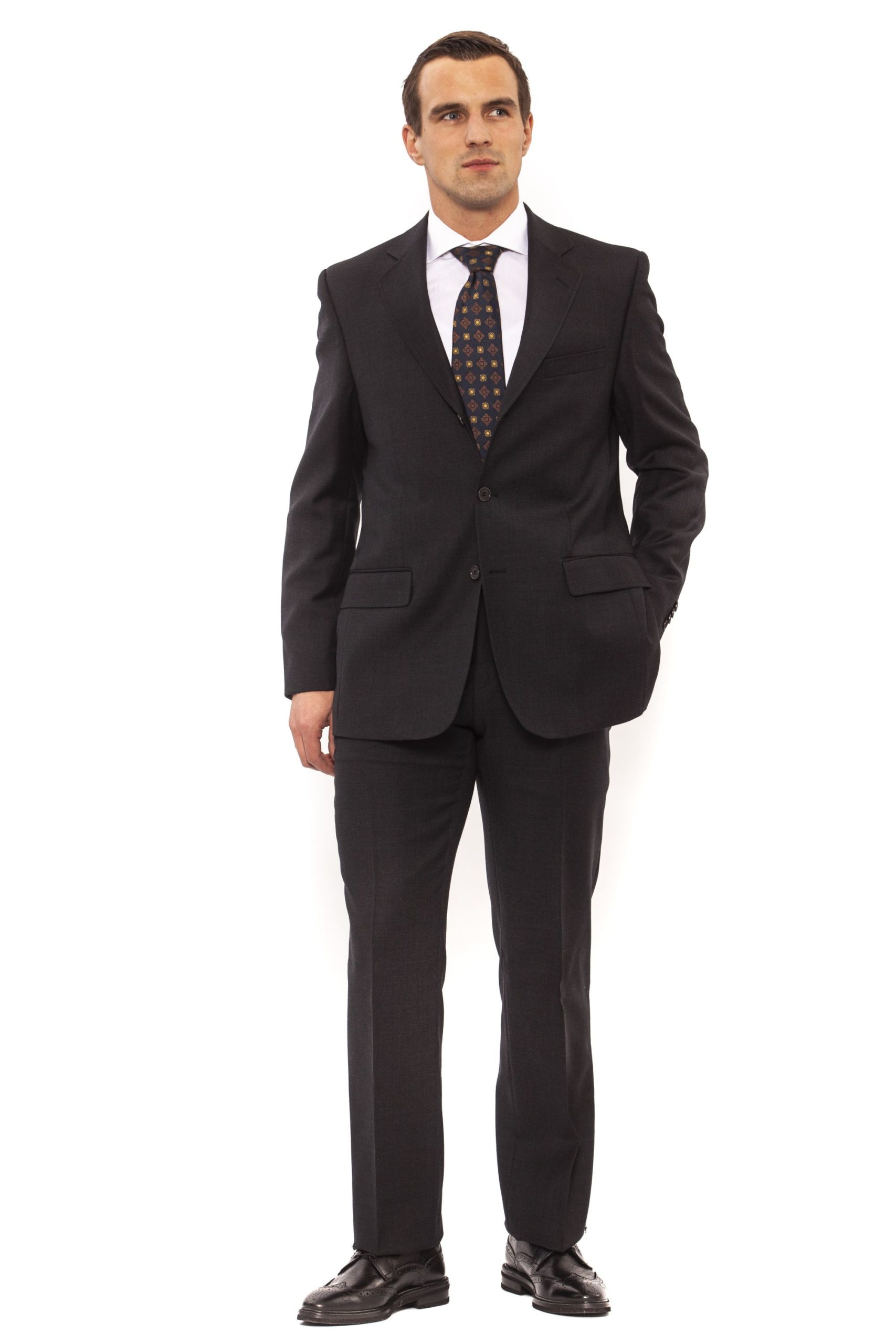 Ferre Men's Clothing Anthracite Suit Gray FE991812 - IT50 | L