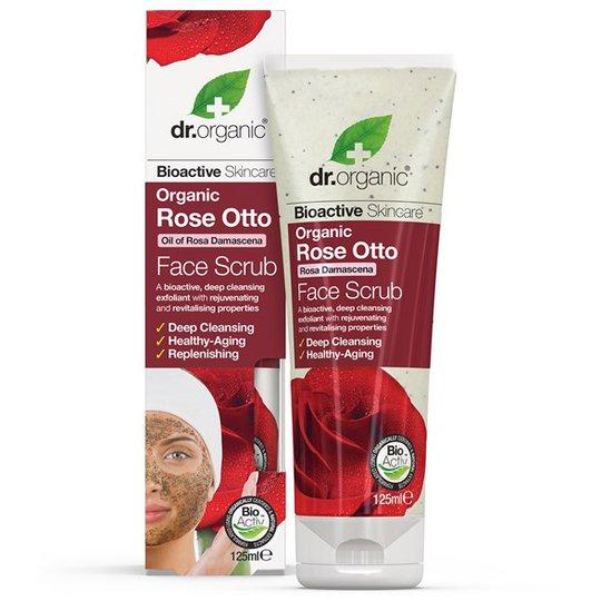 Dr. Organic Rose Otto Face Scrub, 125 ml