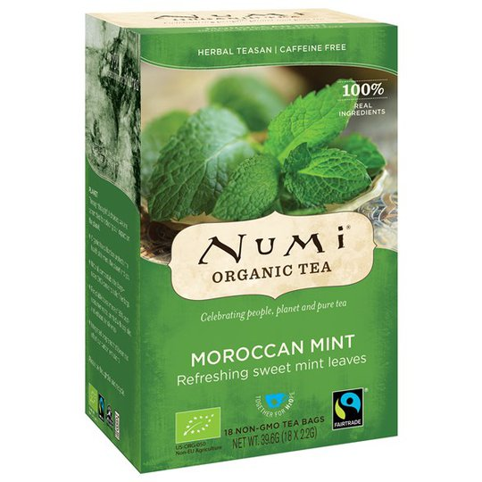 Numi Organic Tea Moroccan Mint, 18 påsar