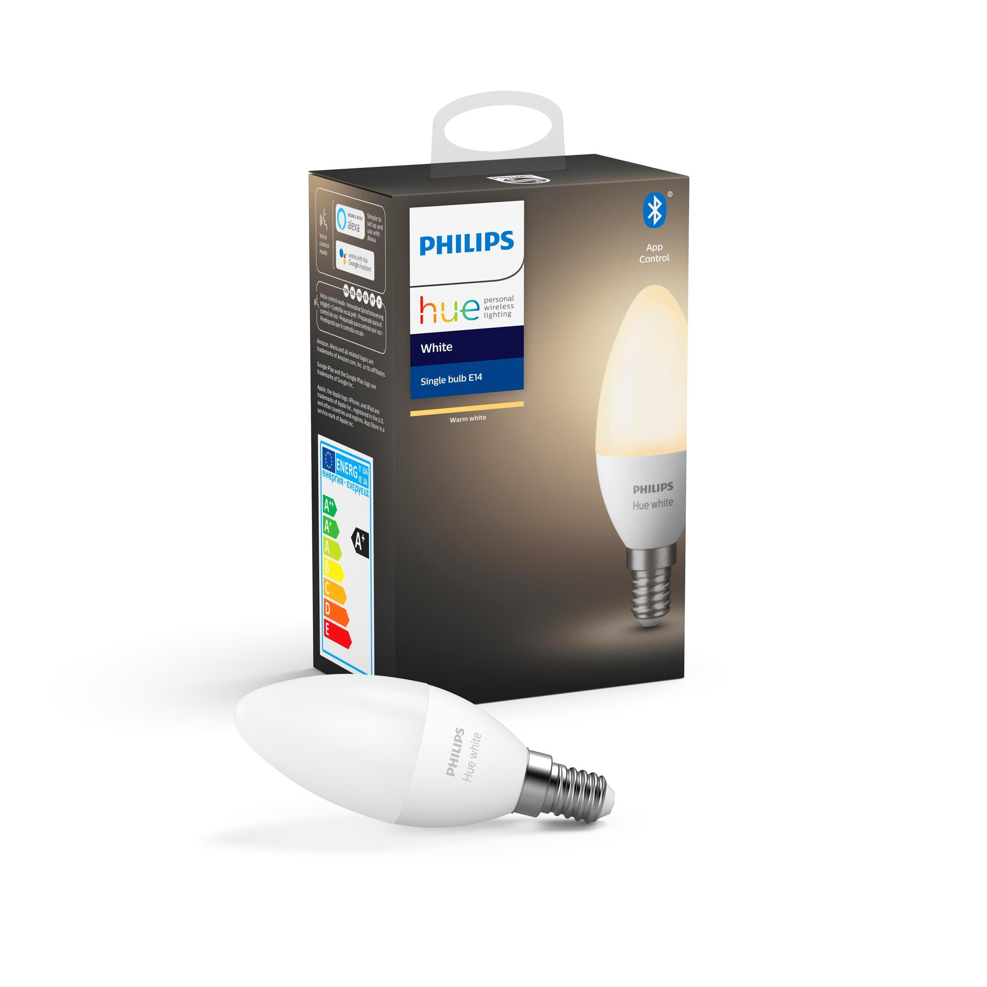 Philips Hue - E14 Single pack - Warm White - Bluetooth