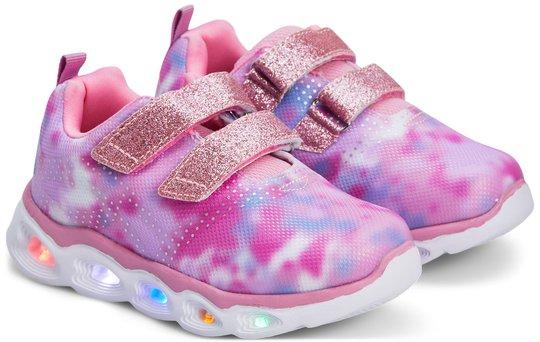 Nordbjørn Milky Way Blinkende Sneaker, Pink, 23