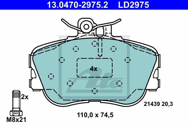 Jarrupalasarja, levyjarru ATE 13.0470-2975.2