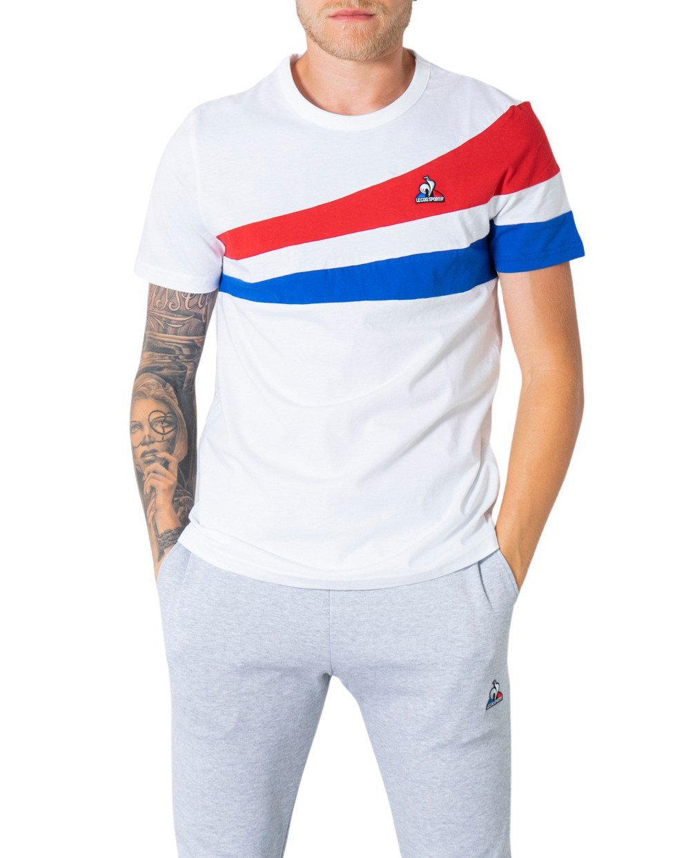Le Coq Sportif Men's T-Shirt Various Colours 305040 - white S