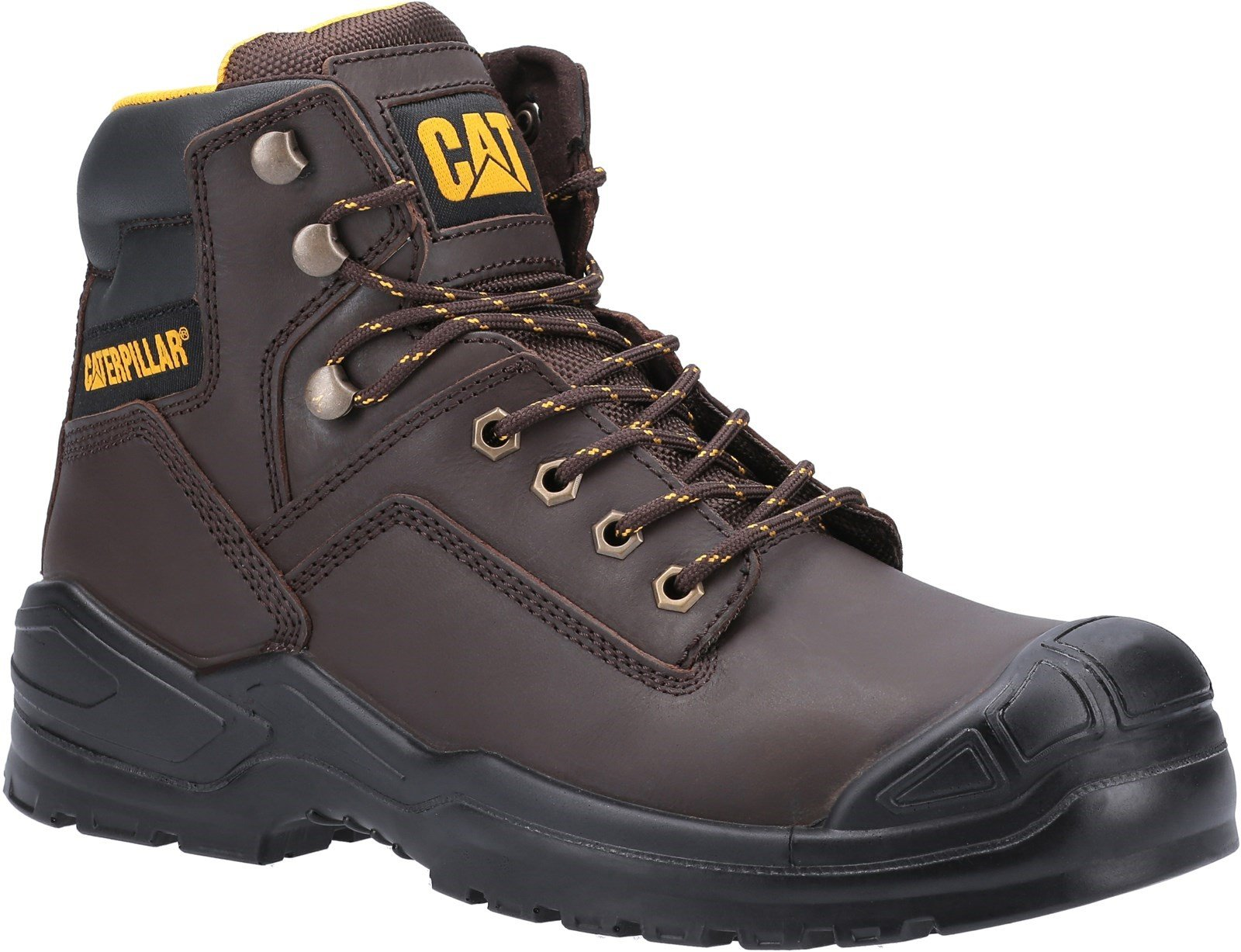 Caterpillar Unisex Striver Mid S3 Safety Boot Various Colours 31900 - Brown 6