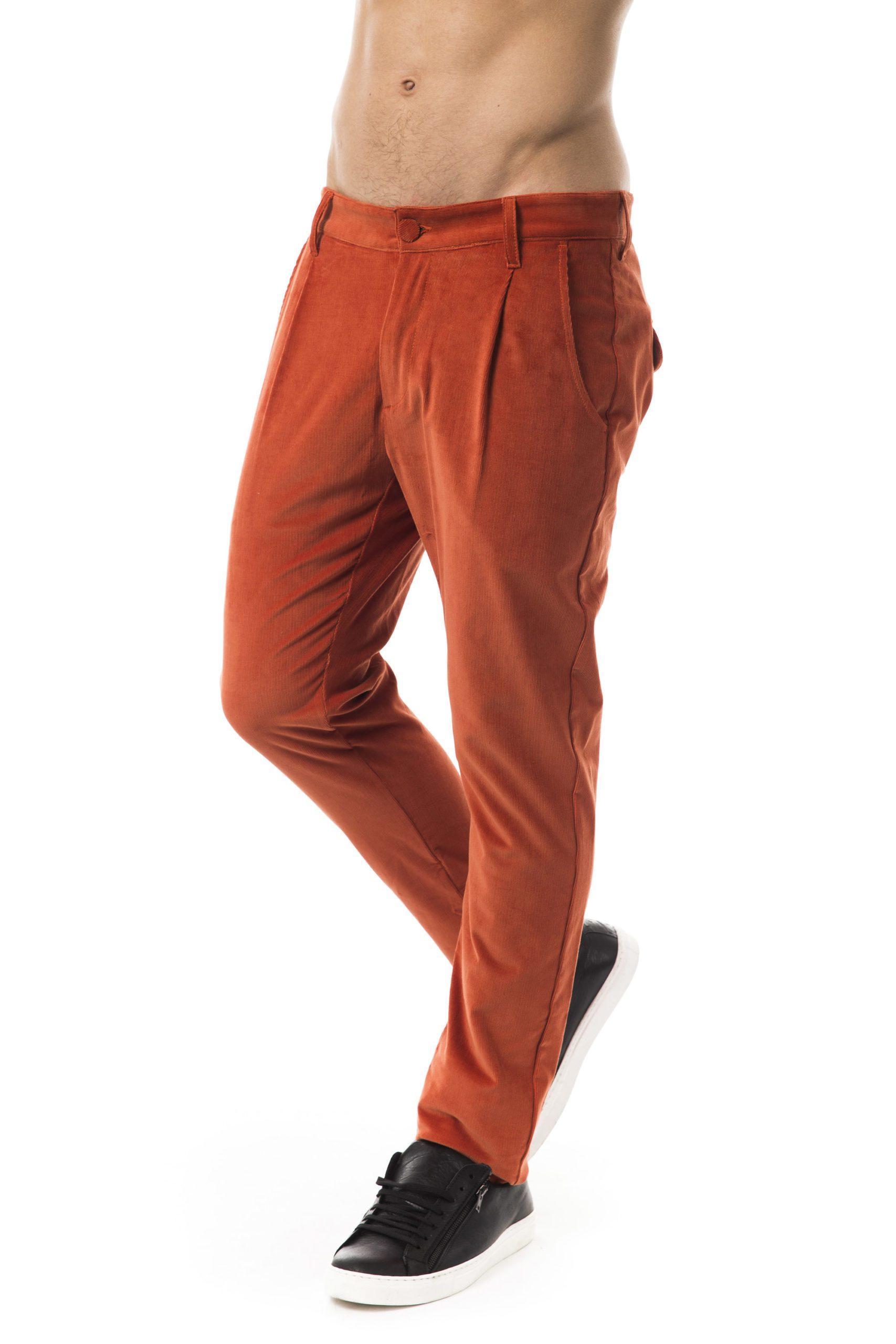 BYBLOS Men's Ruggine Trouser Orange BY1394824 - IT48 | M