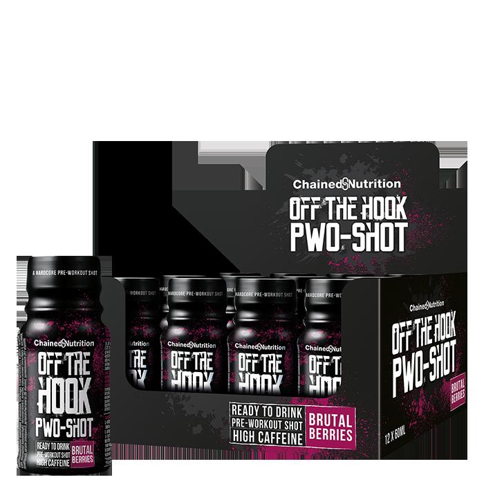 12 x Off The Hook PWO-Shot, 60 ml