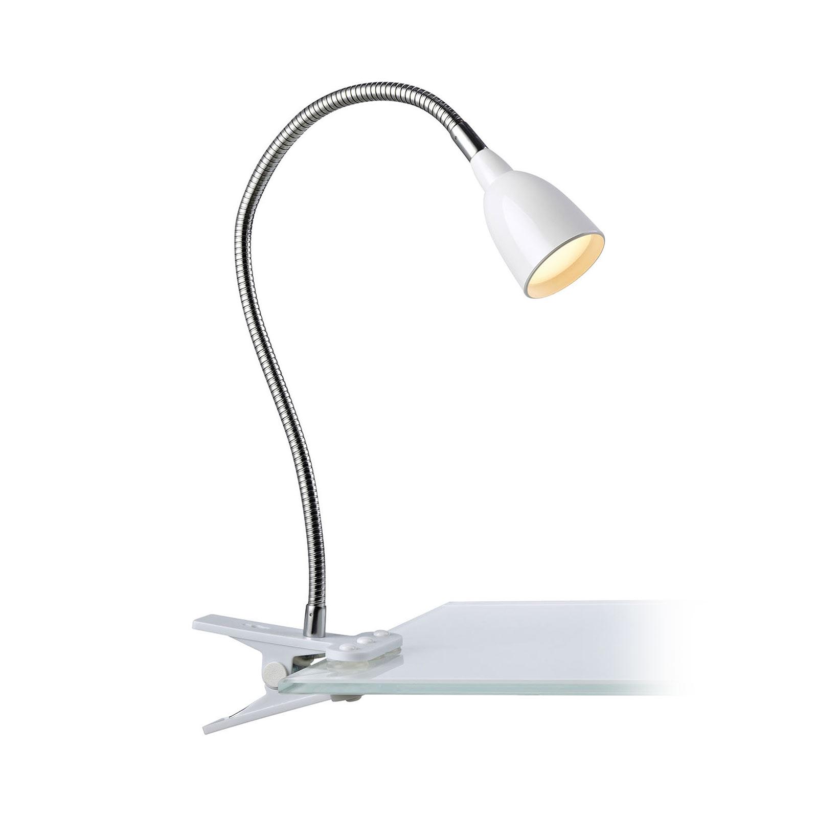 LED-klipsilamppu Tulip, valkoinen