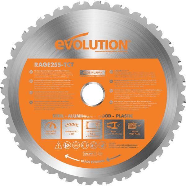 Evolution EVR255S Sagklinge 255x2,0x25,4 mm