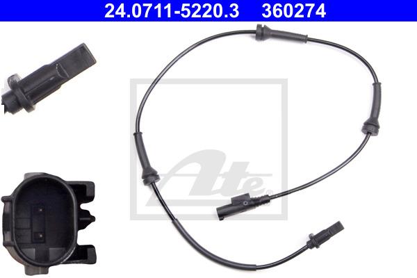 ABS-anturi ATE 24.0711-5220.3