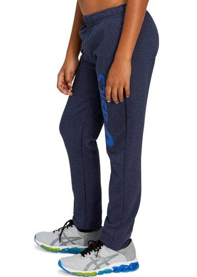 Asics Big Logo Bukse, Mid Grey Heather/Diva Pink, S