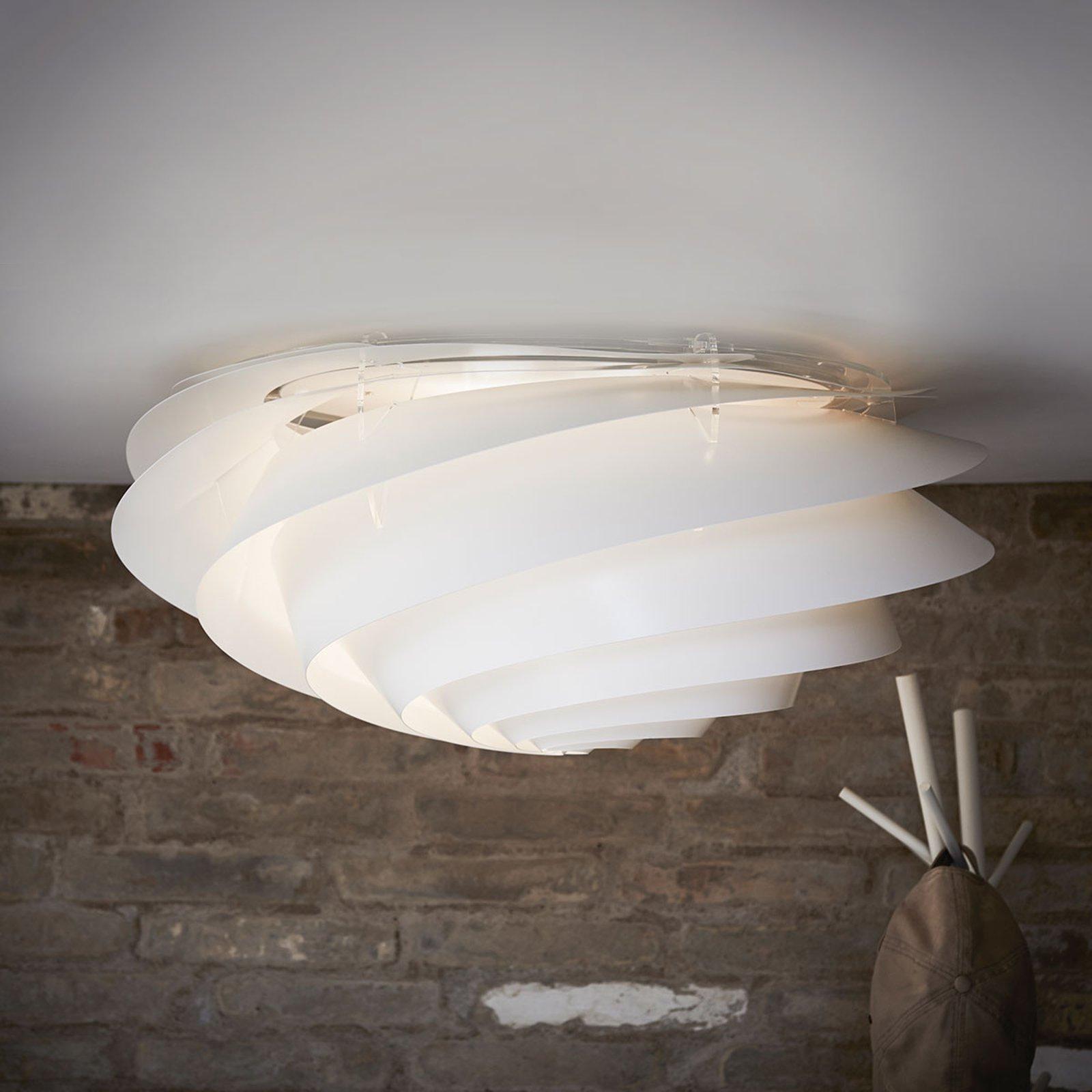 LE KLINT Swirl Large - vegglampe, hvit, dimbar